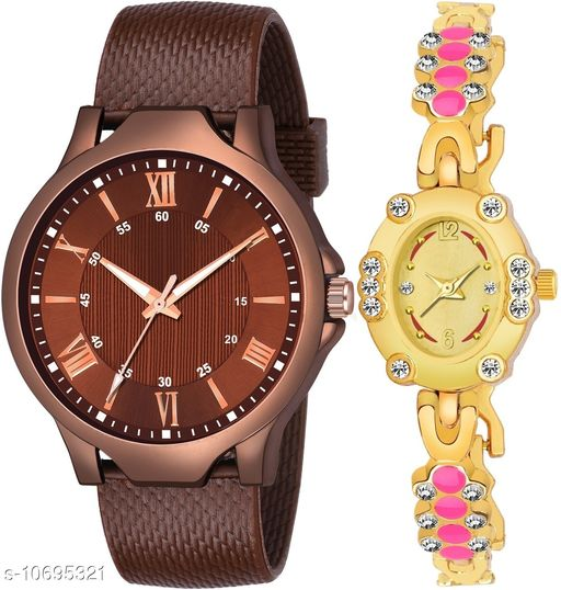 Vwatch Casual Analogue Brown dial Brown strap watch for Men and Women - Vwatch_K_512_LA_963