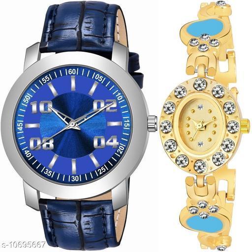 Vwatch Casual Analogue Blue dial Blue strap Combo watch - Vwatch_K_511_LA_960
