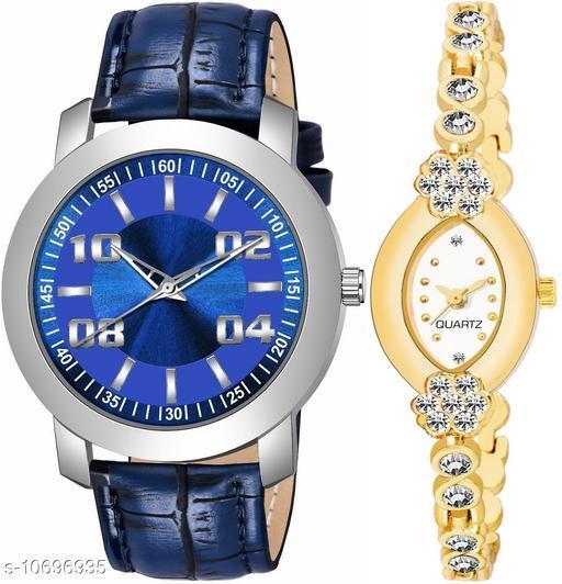 Vwatch Casual Analogue Blue dial Blue strap Combo watch - Vwatch_K_511_LA_912