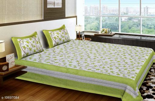 Bedsheets Bedsheets  *Fabric* Cotton  *Multipack* Pack Of 1  *Sizes*  Single  *Sizes Available* Single *    Catalog Name: Graceful Classy Bedsheets CatalogID_1964806 C53-SC1101 Code: 936-10697084-