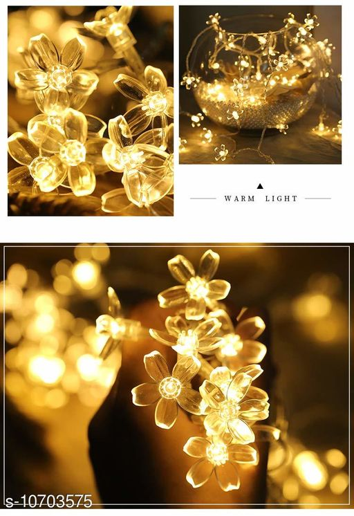 Diwali Lightings Arnah Treasure Flower Fairy String Lights, 20 LED Christmas Lights for Diwali Home Decoration (Warm White)  *Product Name* Arnah Treasure Flower Fairy String Lights, 20 LED Christmas Lights for Diwali Home Decoration (Warm White)  *Material* Plastic  *Color* Yellow  *Sizes*   *Sizes Available* Free Size *    Catalog Name:  Diwali Lightings CatalogID_1966225 C98-SC1377 Code: 483-10703575-