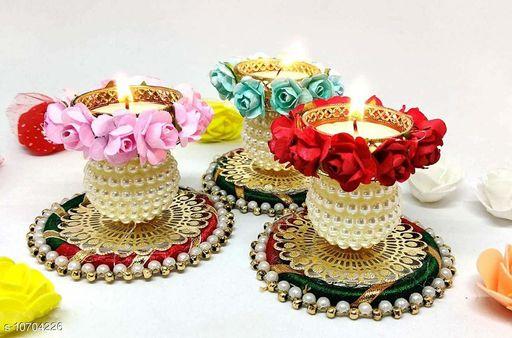 Diwali Candles for decoration (Pack of 3)