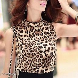Women's leopard print crop top