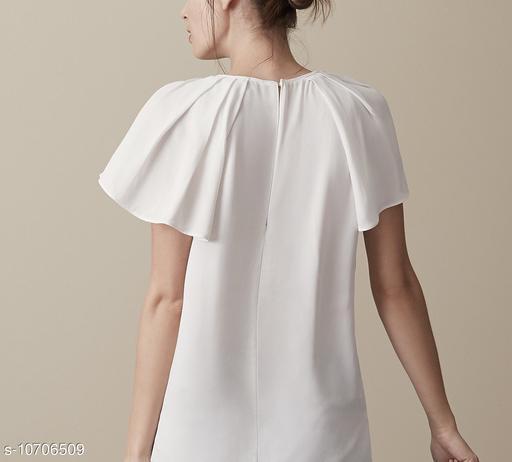 Women's cream short sleeve top