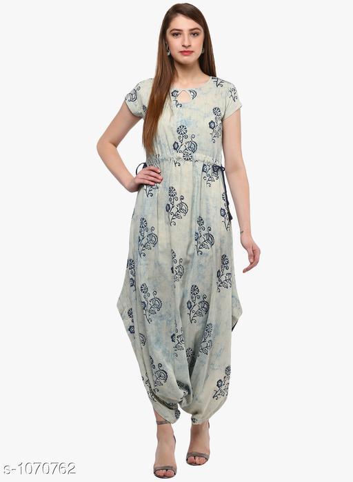 Divena Women's Cotton Floral Printed Dhoti Kurti