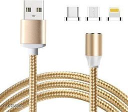 Magnet Cable Charger  for Android, All Type  Mobiles and iOS Mobiles 1.2 m Magnetic Charging Cable