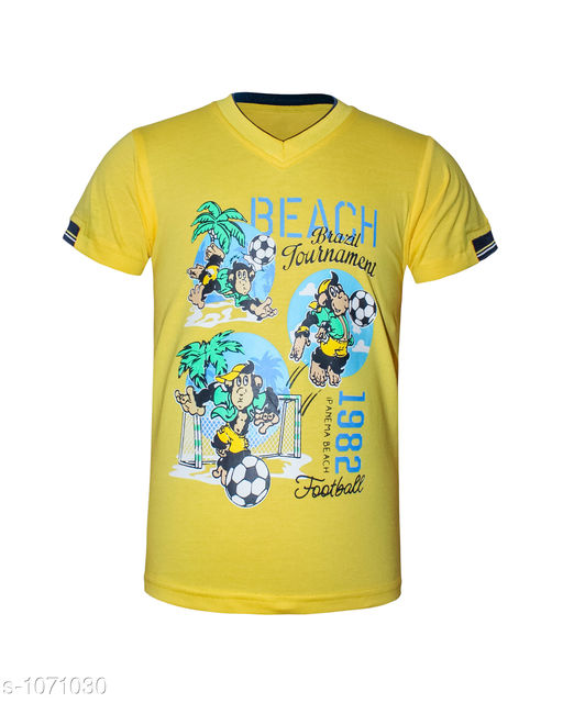 Trendy Cotton Knitted Boy's T-shirt