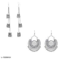 Oxidized Metal Women's Earrings Combo
