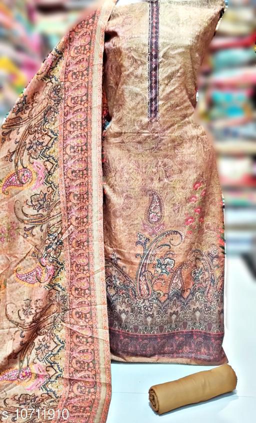 Digital print Pashmina Woolen  Designer suit