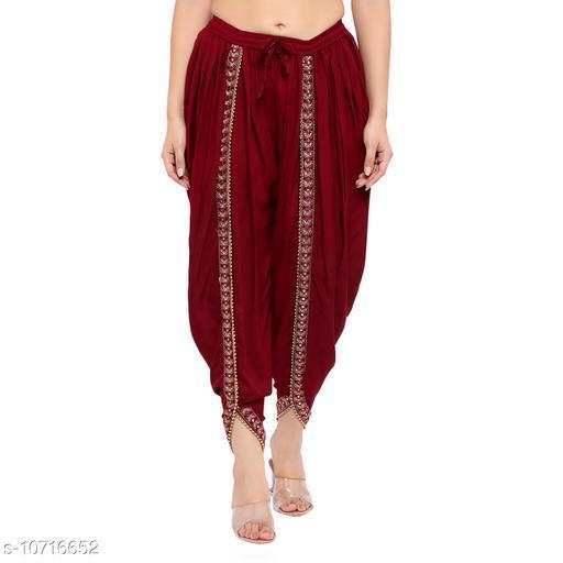 La Bells Stylerz Women's Stylish Dhoti Salwar (Free Size)