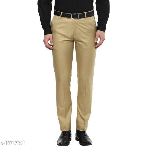 Inspire Khaki Slim Fit Formal Trouser For Men