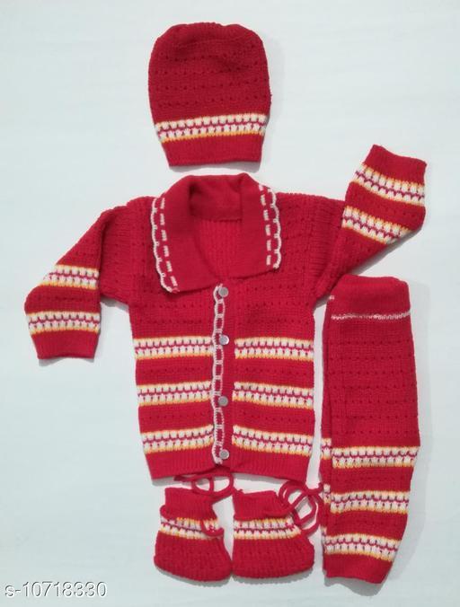Stylish Unisex Baby Sweater Set