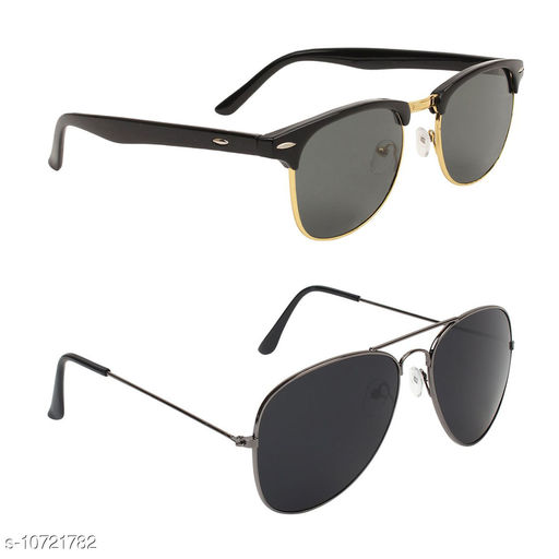 Alvia Combo of 2 Sunglasses For Men and Women