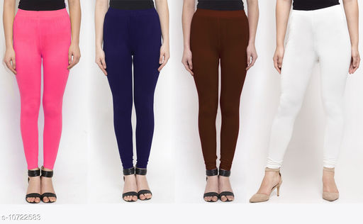 Leggings & Tights   New Stylish Women's Ethnic Bottomwear - Leggings  *Fabric* Cotton Lycra  *Pattern* Solid  *Type* Stiched  *Multipack* 4  *Sizes*   *36 (Waist Size* 36 in, Length Size  *38 (Waist Size* 38 in, Length Size  *Sizes Available* 34, 36, 38 *    Catalog Name: New Stylish Women's  Ethnic Bottomwear - Leggings CatalogID_1970065 C79-SC1035 Code: 634-10722583-