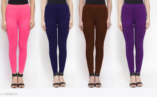 Leggings & Tights   New Stylish Women's Ethnic Bottomwear - Leggings  *Fabric* Cotton Lycra  *Pattern* Solid  *Type* Stiched  *Multipack* 4  *Sizes*   *36 (Waist Size* 36 in, Length Size  *38 (Waist Size* 38 in, Length Size  *Sizes Available* 34, 36, 38 *    Catalog Name: New Stylish Women's  Ethnic Bottomwear - Leggings CatalogID_1970065 C79-SC1035 Code: 634-10722584-
