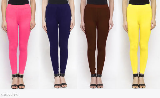 Leggings & Tights   New Stylish Women's Ethnic Bottomwear - Leggings  *Fabric* Cotton Lycra  *Pattern* Solid  *Type* Stiched  *Multipack* 4  *Sizes*   *36 (Waist Size* 36 in, Length Size  *38 (Waist Size* 38 in, Length Size  *Sizes Available* 34, 36, 38 *    Catalog Name: New Stylish Women's  Ethnic Bottomwear - Leggings CatalogID_1970065 C79-SC1035 Code: 634-10722585-