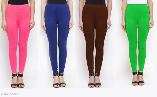 Leggings & Tights   New Stylish Women's Ethnic Bottomwear - Leggings  *Fabric* Cotton Lycra  *Pattern* Solid  *Type* Stiched  *Multipack* 4  *Sizes*   *36 (Waist Size* 36 in, Length Size  *38 (Waist Size* 38 in, Length Size  *Sizes Available* 34, 36, 38 *    Catalog Name: New Stylish Women's  Ethnic Bottomwear - Leggings CatalogID_1970065 C79-SC1035 Code: 634-10722586-