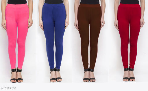 Leggings & Tights   New Stylish Women's Ethnic Bottomwear - Leggings  *Fabric* Cotton Lycra  *Pattern* Solid  *Type* Stiched  *Multipack* 4  *Sizes*   *36 (Waist Size* 36 in, Length Size  *38 (Waist Size* 38 in, Length Size  *Sizes Available* 34, 36, 38 *    Catalog Name: New Stylish Women's  Ethnic Bottomwear - Leggings CatalogID_1970065 C79-SC1035 Code: 634-10722591-