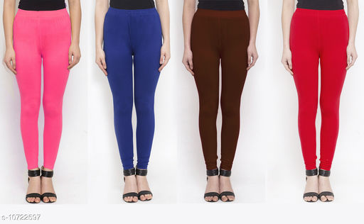 Leggings & Tights   New Stylish Women's Ethnic Bottomwear - Leggings  *Fabric* Cotton Lycra  *Pattern* Solid  *Type* Stiched  *Multipack* 4  *Sizes*   *36 (Waist Size* 36 in, Length Size  *38 (Waist Size* 38 in, Length Size  *Sizes Available* 34, 36, 38 *    Catalog Name: New Stylish Women's  Ethnic Bottomwear - Leggings CatalogID_1970065 C79-SC1035 Code: 634-10722597-