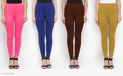Leggings & Tights   New Stylish Women's Ethnic Bottomwear - Leggings  *Fabric* Cotton Lycra  *Pattern* Solid  *Type* Stiched  *Multipack* 4  *Sizes*   *36 (Waist Size* 36 in, Length Size  *38 (Waist Size* 38 in, Length Size  *Sizes Available* 34, 36, 38 *    Catalog Name: New Stylish Women's  Ethnic Bottomwear - Leggings CatalogID_1970065 C79-SC1035 Code: 634-10722599-