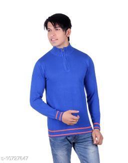 Ogarti cotton Half Zip  Royal Blue Colour Sweater