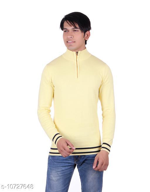 Ogarti cotton Half Zip  Lemon Colour Sweater