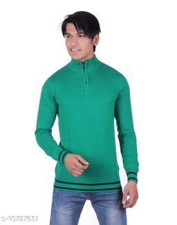 Ogarti cotton Half Zip  Green Colour Sweater