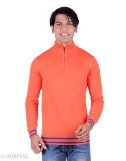 Ogarti cotton Half Zip  Orange Colour Sweater