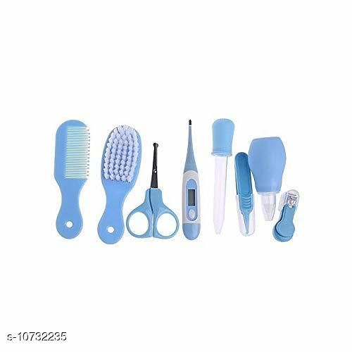 Baby Personal Care Health Care Kit for Newborn Baby 8-in-1 Grooming Kit/Manicure Kit for Babies/Infants/Toddler (Blue)   *Product Name* Grooming Kit  *Material* Plastic  *Product Type* Grooming Kit  *Capacity* 149grm  *Multipack* Pack of  1  *Sizes Available* Free Size *    Catalog Name:  Baby Personal Care CatalogID_1972954 C51-SC1664 Code: 966-10732235-