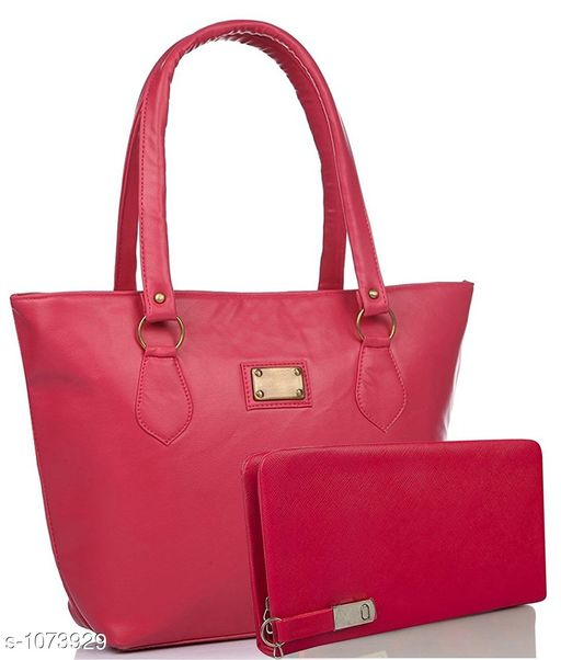 Trendy Leatherette Hand Bags ( Pack Of 2)