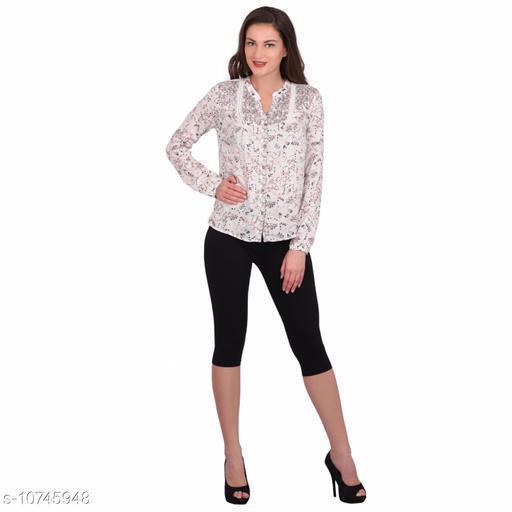 Robinbosky Premium Stretchable Cotton Lycra Black Capri Leggings For Women