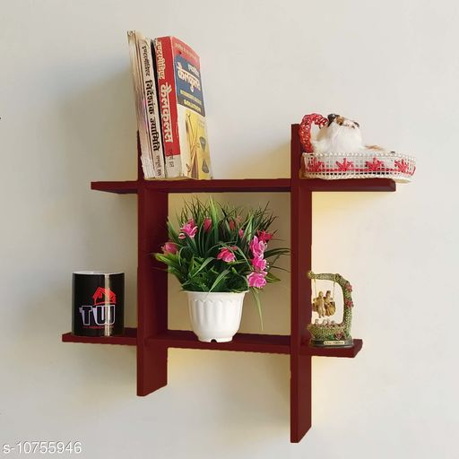 MDF Floating Shelf for Wall Decor Brown