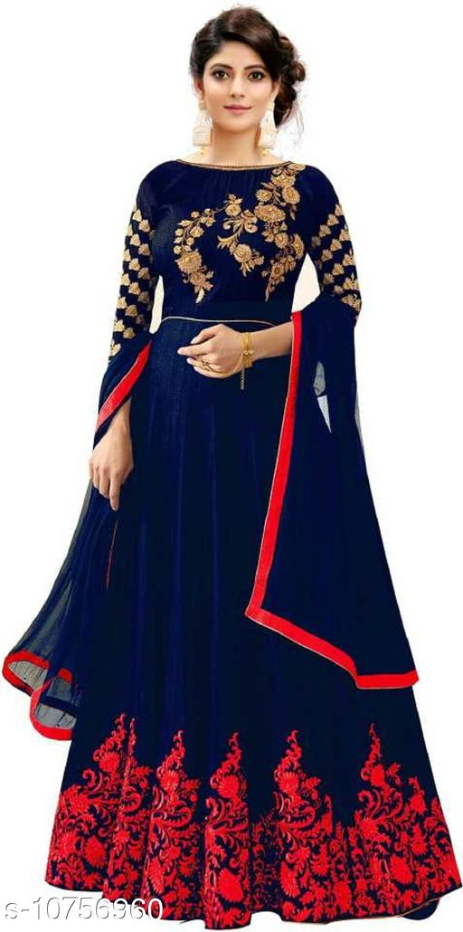 Ethnic Gowns Anarkali Gown_4  *Fabric* Cotton Cambric  *Sizes*   *Free Size (Bust Size* 46 in, Length Size  *Sizes Available* Free Size *    Catalog Name: Trendy Sensational Women Gowns CatalogID_1978855 C61-SC1400 Code: 6621-10756960-