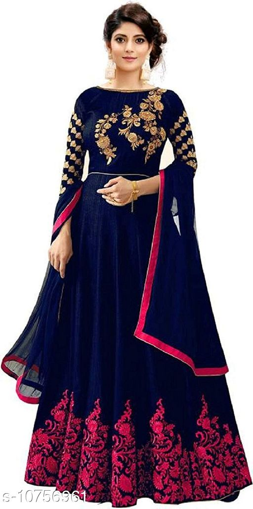 Ethnic Gowns Anarkali Gown_2  *Fabric* Cotton Cambric  *Sizes*   *Free Size (Bust Size* 46 in, Length Size  *Sizes Available* Free Size *    Catalog Name: Trendy Sensational Women Gowns CatalogID_1978855 C61-SC1400 Code: 6621-10756961-