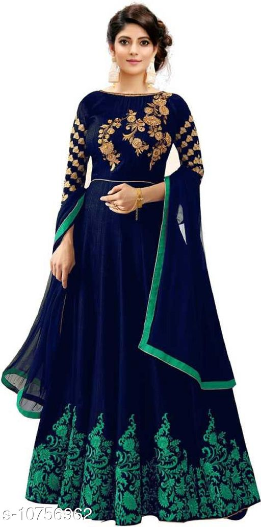 Ethnic Gowns Anarkali Gown_3  *Fabric* Cotton Cambric  *Sizes*   *Free Size (Bust Size* 46 in, Length Size  *Sizes Available* Free Size *    Catalog Name: Trendy Sensational Women Gowns CatalogID_1978855 C61-SC1400 Code: 6621-10756962-