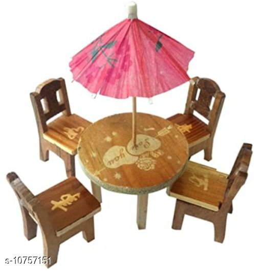 Set of 6pcs Wooden Mini Table Chair Set Toys (Birthday Gift) 3+ Years