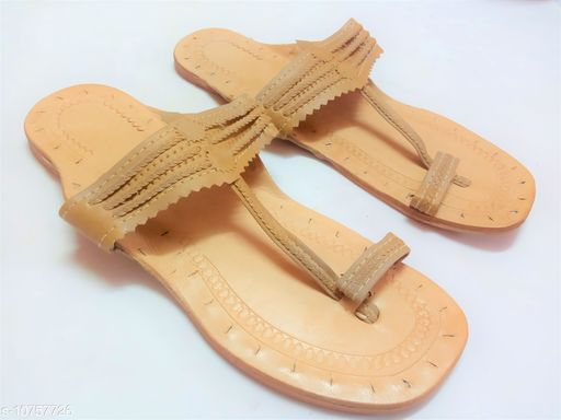 Flats kolhapuri flat for women  *Material* Leather  *Sizes*  IND-6  *Sizes Available* IND-6 *    Catalog Name: Modern Graceful Women Flats CatalogID_1979052 C75-SC1071 Code: 695-10757726-