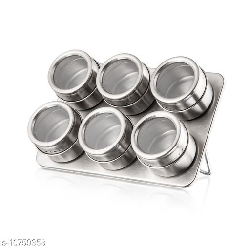Ice Cube Trays 6 PCS Magnetic Stainless Steel Cruet Condiment Spice Jars Set Salt and Pepper  *Sizes*  Free Size  *Sizes Available* Free Size *    Catalog Name: Designer Trays CatalogID_1979444 C135-SC1653 Code: 508-10759358-