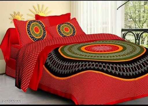 special jaipuri Printed Pure Coton bed sheet