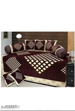 Kanha Décor presents Chenille attractive designer Diwan set which contain 1 bedsheet , 2 bolster with 5 cushion cover