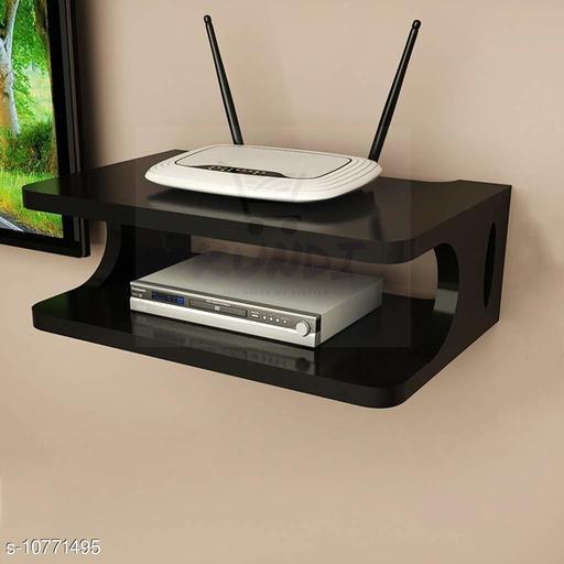 Namra Arts Wooden Wall Shelf Pot Stand Router Stand Wi-Fi Modem Stand ( Black )