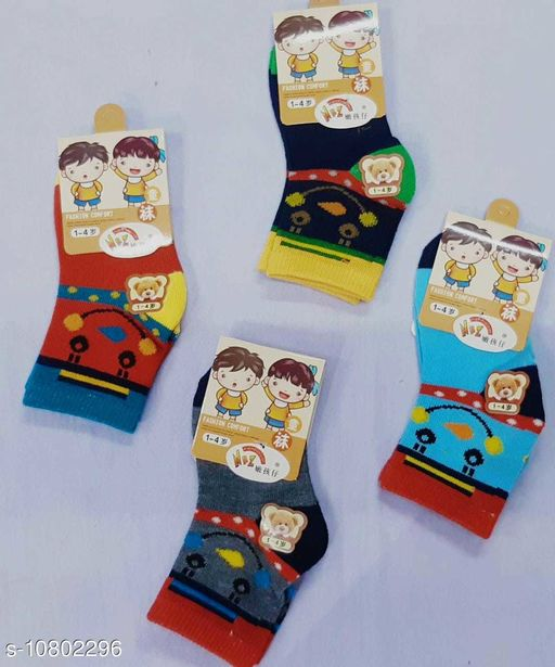 Belts KIDS SOCKS   *Material* Fabric  *Type* Sock  *Multipack* 4  *Sizes* Free Size  *Sizes Available* Free Size *    Catalog Name: Attractive Caps, Ties, Belts & Socks CatalogID_1989945 C63-SC1193 Code: 022-10802296-