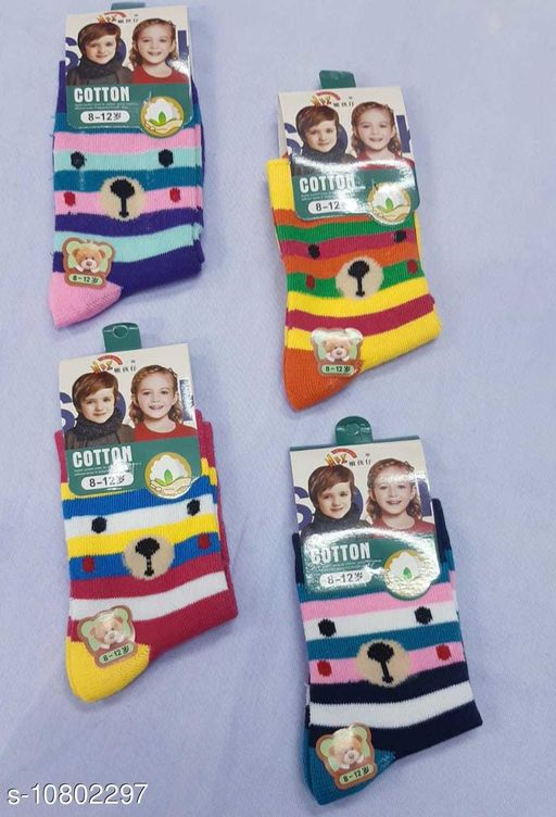 Belts KIDS SOCKS   *Material* Fabric  *Type* Sock  *Multipack* 4  *Sizes* Free Size  *Sizes Available* Free Size *    Catalog Name: Attractive Caps, Ties, Belts & Socks CatalogID_1989945 C63-SC1193 Code: 022-10802297-