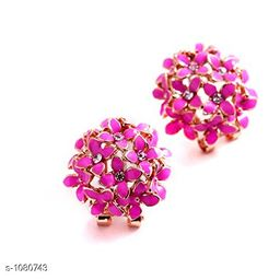 Rose Gold Plated Princess Chunky Copper Gold Plated Earring