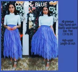 High-Buy mesh net full flare high waist skirt - strechable waist from 24 to 34- lavender