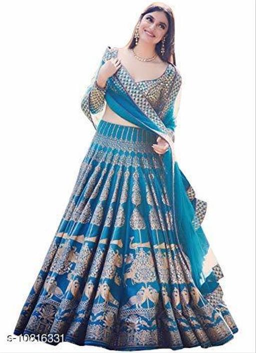 Kurtis & Kurtas IEAM Presents Women's Silk Digital Printed Lehenga Choli for Bridal Wear (Blue, Free Size)  *Fabric* Satin Silk  *Combo of* Single  *Sizes*   *Free Size (Size Length* 44 in)  *Sizes Available* Free Size *    Catalog Name: Abhisarika Graceful Kurtis CatalogID_1993036 C74-SC1001 Code: 0911-10816331-