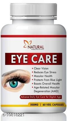 Natural Eye care herbal capsules for reduces Vision problem 100% Pure (180 No)