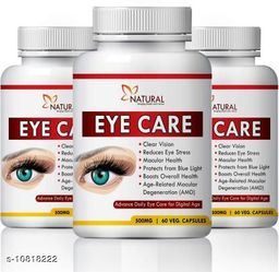 Natural Eye care Suppliment for reduces Vision problem 100% Pure (60 No)