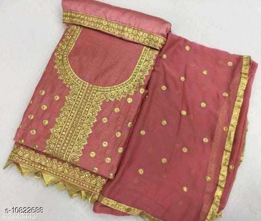 Fancy Chanderi Cotton Women's Suit & Dress Material