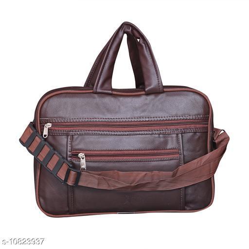 Trendy Men's Brown Leather Messenger Bags